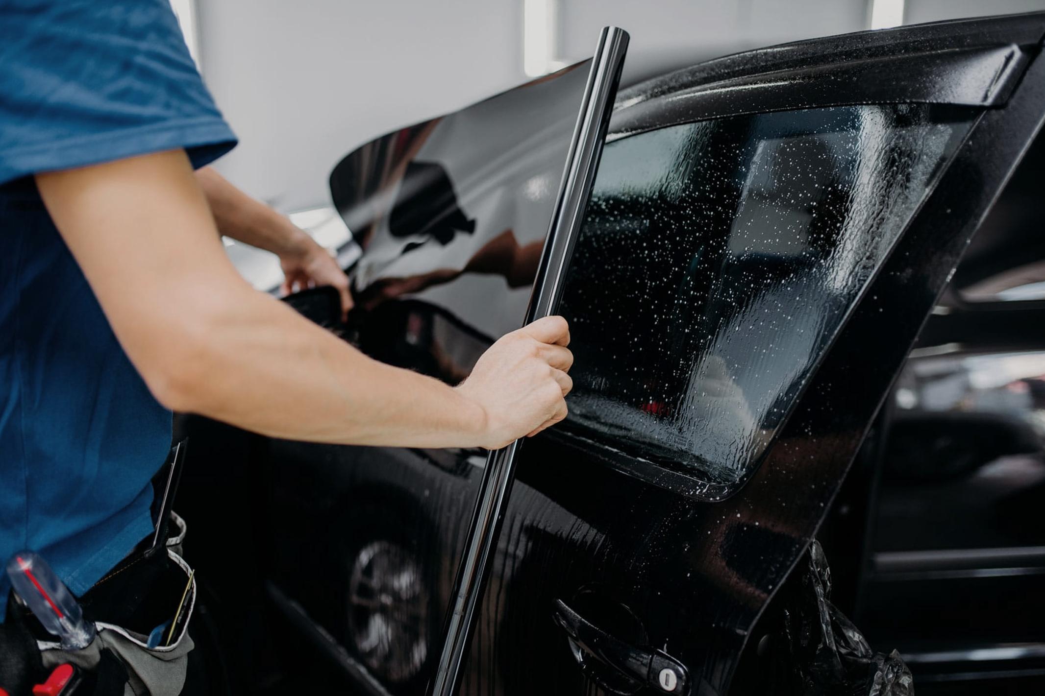 Pose de vitres teintées écurie automobile